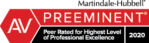 Martindale Hubbell AV Preeminent – Peer Rated for Highest Level of Professional Excellence